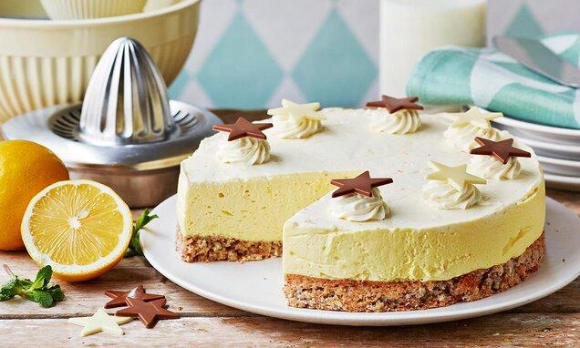 blåbärscheesecake med vit choklad